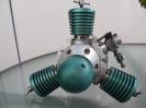 3-Zylinder-Modellsternmotor türkis