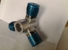 3-Zylinder-Modellsternmotor blau