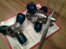 3-Zylinder-Modellsternmotoren blau