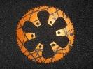 Kettenrad schwarz/orange
