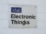 Schild Electronic Thingks